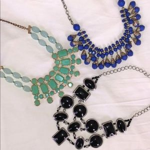 Jewelry - Trio of statement necklaces